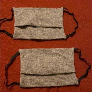 Set of two cloth cotton face masks